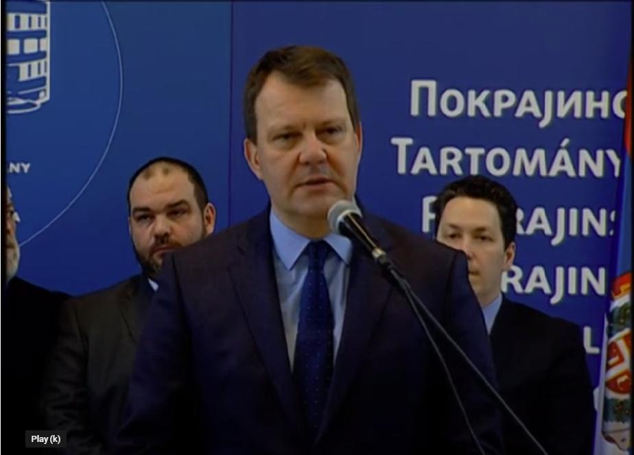 Игор Мировић (фото: Прес биро Покрајинске владе, Јутјуб